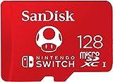 SanDisk Scheda MicroSDXC UHS-I per Nintendo Switch 128 GB, Modello 2019, Prodotto con Licenza Nintendo, 128 GB, Nuova Versione, Rosso