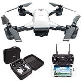 le-idea GPS Drone con Telecamera 1080P HD grandangolare Video in Diretta, 5GHz WiFi FPV Trasmissione Quadricottero, Facile per Principianti, Borsa per Il Trasporto【Versione Aggiornata IDEA10】