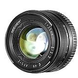 Neewer - Obiettivo standard 35 mm f/1.2 con apertura ampia e Prime APS-C per fotocamere mirrorless Sony E-Mount A6500 A6300 A6100 A6000 A5100 A5000 A9 NEX 3 NEX 3 NEX 5 NEX 5T NEX 5R NEX 6 7