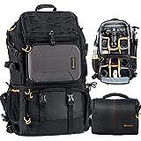 TARION Pro PB-01 Zaino Fotografico Grande e Borsa a Tracolla per Fotocamera per Obiettivi Treppiede Laptop 15.6' Zaino Fotocamera Reflex Grande Capacità Viaggio Trekking Camping