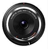Olympus BCL-0980 Body Cap Lens  Obiettivo 9 Mm 1:8.0, Fisheye, Ultrasottile, Micro Quattro Terzi, per Fotocamere OM-D e PEN, Nero