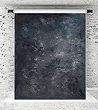 KateHome PHOTOSTUDIOS 1,5x2,2m Foto sfondo nero astratto Ritratto Microfibra Fondali Photo Studios Puntelli