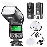 NeewerPRO i-TTL Flash *Deluxe Kit* per NIKON DSLR D7100 D7000 D5300 D5200 D5100 D5000 D3200 D3100 D3300 D90 D800 D700 D300 D300S D610, D600, D4 D3S D3X D3 D200 N90S F5 F6 F100 F90 F90X D4S D SLR Camera- Include: Neewer Auto-Focus Flash + Wireless Trigger +M-Cavo & B-Cavo + Flash Diffusore Soffice & Duro + Astuccio per lenti