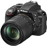 Nikon D3300 Kit Fotocamera Reflex Digitale con Nikkor 18/105VR, 24.2 Megapixel, LCD 3 Pollici, Nero [Versione EU]