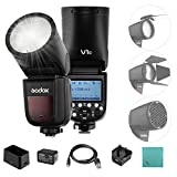 Godox V1-C Professional Flash Speedlite Speedlight Round Head Wireless 2.4G per Canon EOS Series 1500D 3000D 5D Mark lll 5D Mark ll per Wedding Portrait Studio Photography