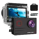 【2020 Nuova 】Apexcam 4K Action Cam Pro 20MP EIS WIFI Fotocamera Impermeabile 40M Sott'acqua Ultra HD Sports Camera Mic Esterno 2'' 2.4G Telecomando 170°Grandangolo con 2x1200mAh Batterie e Accessori