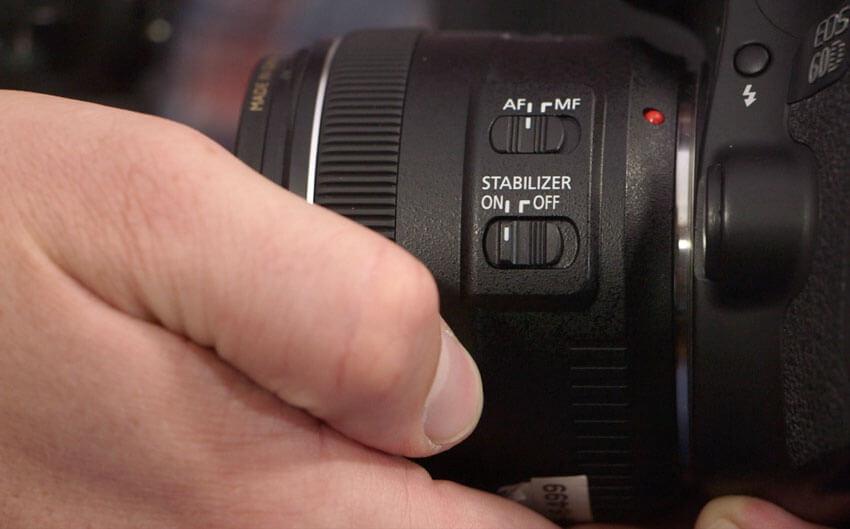 stop stabilizzazione di immagine