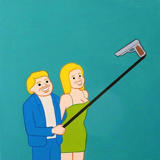Simone Scalise no selfie