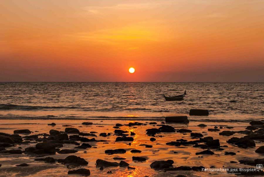 fotografare al tramonto vino