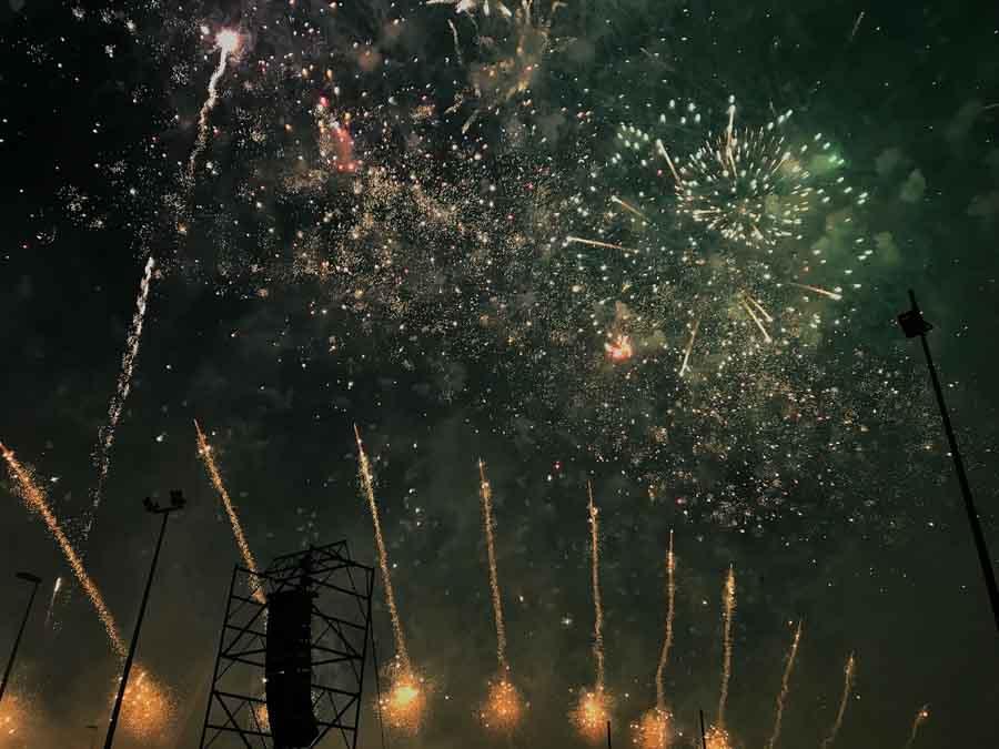fotografare fuochi d'artificio tempo