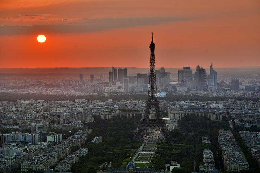 fotografare tramonti Parigi