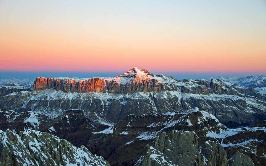 fotografare tramonti montagna