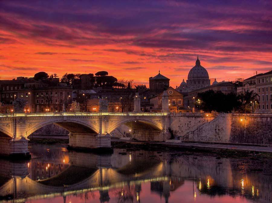 fotografare tramonti roma