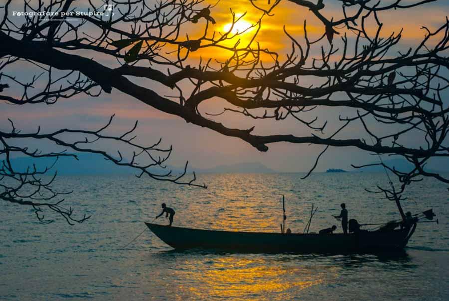fotografia al tramonto