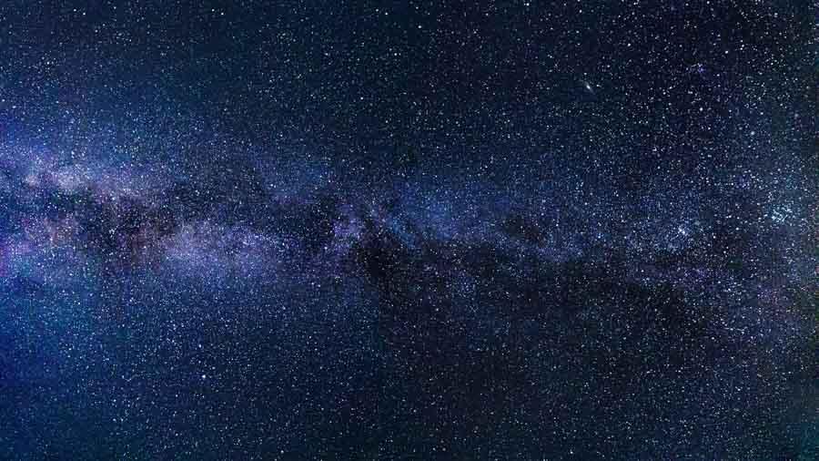 fotografia via lattea solo stelle
