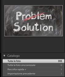 catalogo di lightroom