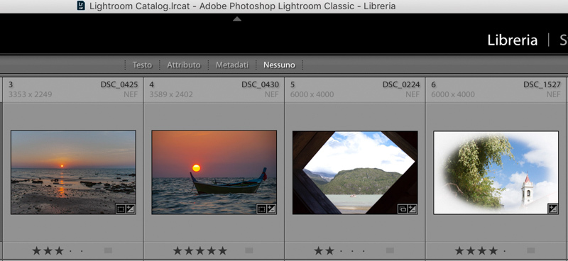 ordine personalizzato in Lightroom
