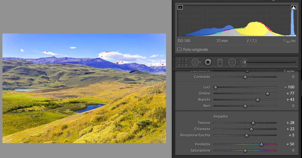 vividezza e saturazione lightroom